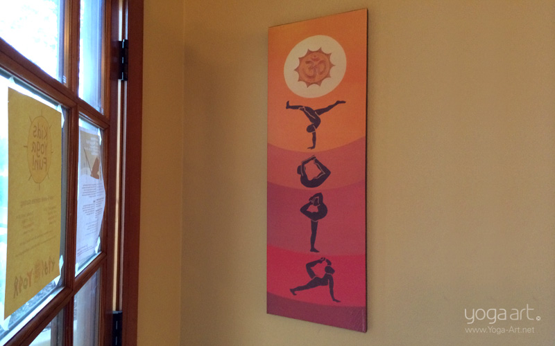 Yoga Asana Print On Canvas